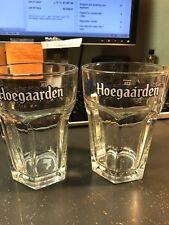 Set Of 2 Hoegaarden Beer Glasses Full Size Pint Glasses Excellent