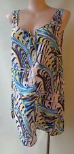 Autograph long print top size 16 NWT sleeveless yellow blue