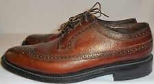 FLORSHEIM, MEN'S BROWN GRAINED LEATHER WING TIP OXFORD, SIZE 8 D