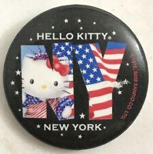 New listing Hello Kitty Ny New York pinback button pin back badge Usa flag American