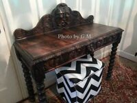Antique, English Sideboard or Wine Server in Jaccobean style
