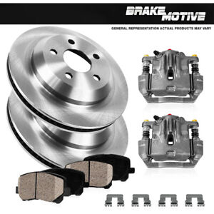 Rear OE Brake Calipers and Rotors +Ceramic Pads Kit For 2004 Volvo S40