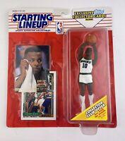 NBA Basketball Starting Lineup (1993) Todd Day Milwaukee Bucks Figure w/ Cards