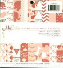 Baby Girl Pink Newborn Sweet Bundle Welcome 6 x 6 American Crafts Paper Pad