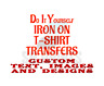 CUSTOM IRON ON T-SHIRT TRANSFER PRINTS WITH TEXTS, PHOTOS & DESIGN FOR T-SHIRTS