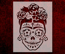 "Day Of The Dead Dia De Muertos Sugar Skull  8.5"" x 11"" Stencil FREE SHIP (619)"