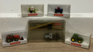 T2070_ WIKING H0 1:87 - LOT ENGIN AGRICOLES & CHANTIER - REF 947 957 958 959 023