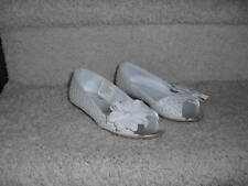 Gymboree Daisy Delighful Easter white eyelet dressy shoes spring summer EUC 11