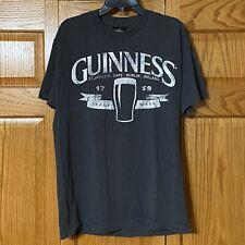 Men's Guinness Irish Beer OFFICIAL Drink Drinking Brewery Shirt Gray/Grey L/XL