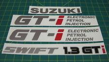 Suzuki Swift 1.3 GTi decal set stickers graphics restoration replacement cultus