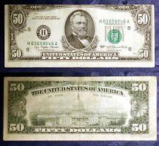 """RARE MAJOR Misalignment & Ink Transfer Errors $50 FRN 1977 """"H"""" St. Louis EPQ/PPQ"""