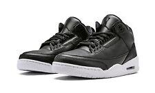 Mens Air Jordan 3 Retro 136064-020 Black/Black-White Brand New Size 15