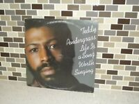 Teddy Pendergrass Life is a Song Worth Singing LP Vinyl Turntable Record PZ35095