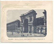 BUSTA ILLUSTRATA MILANO ARCO GALLERIA V.E. II