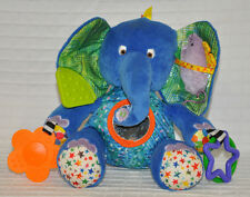 World of ERIC Carle ELEPHANT Clip Baby TOY Development RATTLE Activity CLEAN