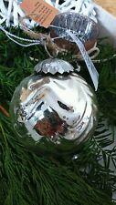 * Weihnachtskugel* Kugel Bauernsilber Nostalgie Baumschmuck 10cm Shabby