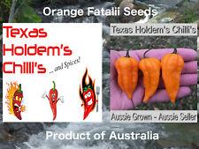 Orange Fatalii chilli chili seeds x 10.  Citrusy and hot HOT!