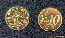 France - 1999 - 10 Centimes  d'euro FDC Provenant BE 15000 exemplaires - France
