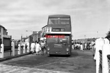 PHOTO  1986 CORNWALL ST. IVES BUS STATION THIS IS A SECOND-HAND EX-LONDON TRANSP