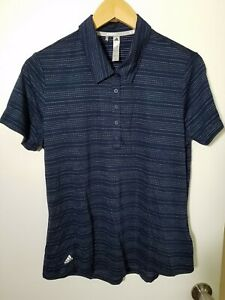 1 NWT ADIDAS WOMEN'S POLO, SIZE: LARGE, COLOR: NAVY/WHITE (J98)
