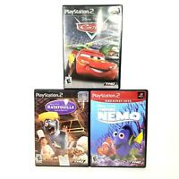 Ratatouille Finding Nemo Cars Playstation 2 PS2 Video Game Disney Pixar Lot of 3