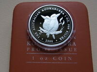 Australia. 2000 1oz - Silver Kookaburra ($1)..  Proof in Case