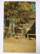 Old Log Jail Jailhouse Nashville, Indiana Brown County IN Chrome Postcard Unused