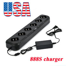 6/Six Way Multi Unit Battery Charger Desktop Rapid Charger for BF-888S Ham Radio