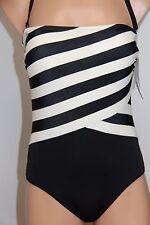 New DKNY Donna Karan Swimsuit 1 one piece size 6 Black Strap