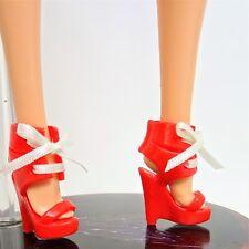 Barbie Chaussures Basics Model Muse Rouge Talon Compensé Lacets Chaussures Comme neuf hors de la boîte