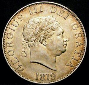 1819 EF George III Silver Half Crown Coin LCGS 60, AU58-MS60