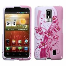 For LG Spectrum / Revolution 2 Pink Blooming Lily Hard Case Cover