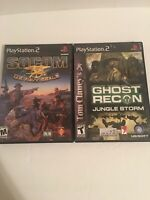 Lot Of PS2 Games Socom Us Navy Seale And Ghost Recon Jungle Storm Complete CIB