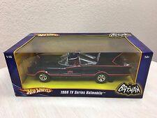 Hot Wheels 1:18 1966 Classic Batman TV Series Batmobile Diecast Mattel Adam West