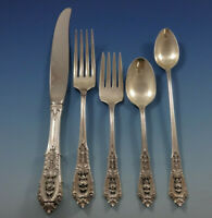 Rose Point by Wallace Sterling Silver Flatware Set 12 Service 78 Pcs Dinner Size