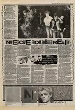 Anti Pasti Interview NME Cutting 1982