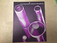 Vtg Sony Brochure ~ Superscope Condenser Microphones ECM 16 18 19B 21 22P 99