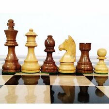 "3.9"" Tournament Chess Pieces only Wooden set in Sheesham wood with Extra Queens"