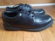 Boys/ mens black school shool uniform shoe, size 6 1/2 W. Worn once!