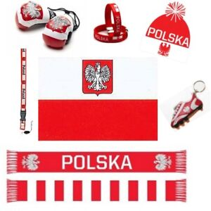 EURO CUP 2020 POLAND SOCCER FLAGS, SCARVES & ACCESSORIES CHOOSE FROM 10 + ITEMS