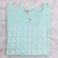 Victoria's Secret VS PINK Las Vegas Short Sleeve Cotton Tee Shirt Mint XS
