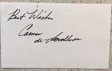 Carmen de Lavallade Signed 3X5 Index Card Alvin Ailey Broadway House Of Flowers