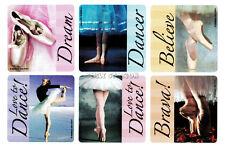 12 Ballet Ballerina Stickers Dance Student Teacher Party Goody Bag Favor Supply