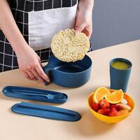 1 Set of 7Pcs Ramen Instant Noodle Bowl Set with Lid Spoon Chopsticks Cup Case