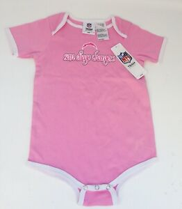 Vintage Pink NFL San Diego Chargers Baby Toddler Kids One Piece 24 Months *NEW*