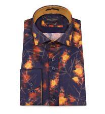 "GUIDE London. 'Fire' Shirt. Med. Navy/Gold. HEAD-TURNER. 40"" Chest. BNWT. 👌🏽"