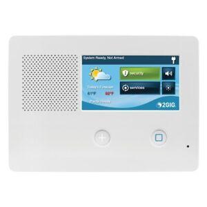 2GIG GC2E 345 Burglar Alarm Control Panel Z-Wave 4G LTE CDMA Wireless Battery