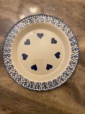 """Roseville Spongewear Hearts 10"""" Plate"""