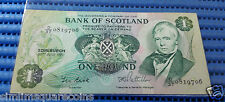 1981 Bank of Scotland One (1) Pound D/37 0819706 Circulated Banknote Currency