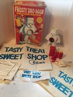 Vintage 1970 Hasbro Frosty Sno-Man Sno-Cone Machine W/ Box And extras Complete?